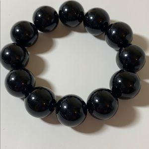❤️ 3/20 Chunky Black Bead Bracelet